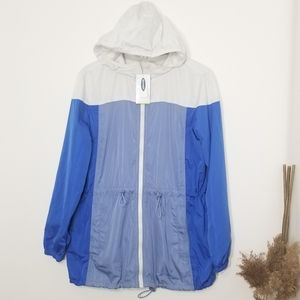 🆕️Old Navy|Go-H2O Rain Jacket Blue White Size Med